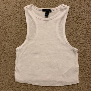 Forever 21 ribbed cropped tank top